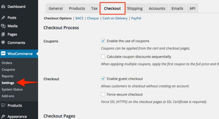 woocommerce_settings_checkout