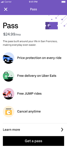 Uber tests monthly subscription that combines Eats, rides